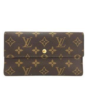 💯 Auth Louis Vuitton Porte Tresor Intl  Trifold
